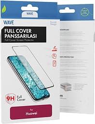 Wave Full Cover -panssarilasi, Huawei P30 Lite, musta