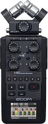 Zoom H6 kannettava tallennin vaihdettavilla mikrofoneilla, musta