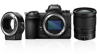 Nikon Z6 -mikrojärjestelmäkamera + 24-70 mm objektiivi + FTZ-adapteri