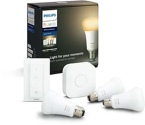 Philips Hue Starter Kit -pakkaus, BT, White Ambiance, E27