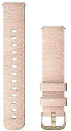 Garmin Quick Release -vaihtoranneke, kudottu nailon, vaaleanpunainen, 20 mm