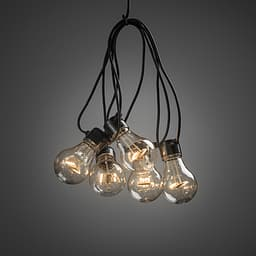 Konstsmide Start -LED valosarja, meripihkanväriset lamput, 10 lamppuinen