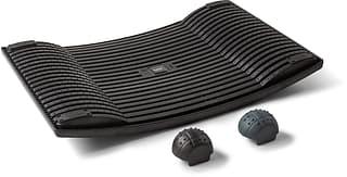 Gymba-aktivointilauta ja hierontapallot, musta