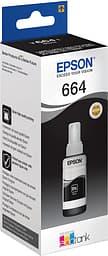 Epson T664 -mustepullo, musta