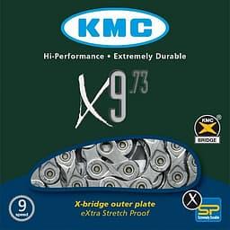 """KMC X9.73 - ketju, 1/2"""" x 11/128"""", 116L"""