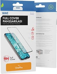 Wave Full Fit -panssarilasi, OnePlus Nord, musta