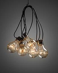 Konstsmide LED -valosarja, 20-osainen, meripihkanväriset lamput