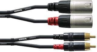 Cordial 2 x RCA - 2 x XLR -audiokaapeli, 3 m