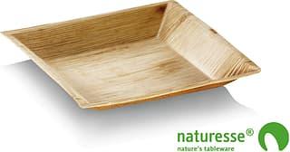 Naturesse Cuadra -kertakäyttölautanen, 18 x 18 cm, 25 kpl