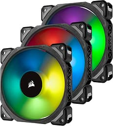 Corsair ML120 PRO RGB LED Premium Magnetic Levitation Fan -tuuletin, 120 mm triplapakkaus