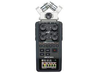 Zoom H6 kannettava tallennin vaihdettavilla mikrofoneilla