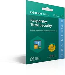 Kaspersky Total Security - 3 laitetta - 12 kk - tietoturvaohjelmisto, aktivointikortti