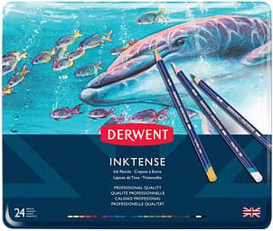 Derwent Inktense -mustevärikynälajitelma, 24 kynää