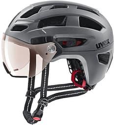 Uvex Finale Visor Vario -pyöräilykypärä, teräksenharmaa, 52-57 cm