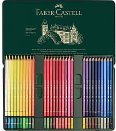 Faber-Castell Polychromos -värikynät peltirasiassa, 60 väriä