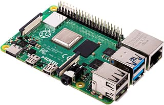 Raspberry Pi 4 model B 2 Gt - yhden piirilevyn tietokone