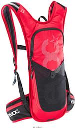 Evoc CC 3l Race -pyöräilyreppu, punainen/musta + 2l juomarakko
