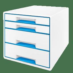 Leitz Wow Cube vetolaatikosto, 4 laatikkoa, sininen