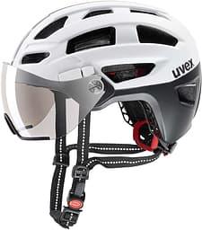Uvex Finale Visor -pyöräilykypärä, musta/valkoinen, 52-57 cm (2018)