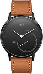 Nokia by Withings Activité Steel -älykello, All Black -limited edition + ruskea nahkaranneke