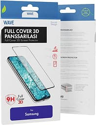 Wave Full Cover -panssarilasi, Samsung Galaxy S20, musta