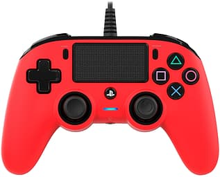 Nacon Wired Compact Controller -peliohjain, punainen, PS4