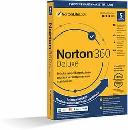 Norton 360 Deluxe - 50 Gt - 5 laitetta / 12 kk -tietoturvaohjelmisto, aktivointikortti
