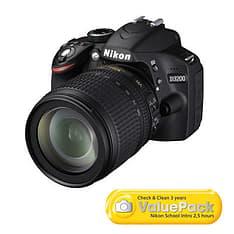 Nikon D3200 KIT musta järjestelmäkamera + AF-S DX 18-105 mm VR objektiivi