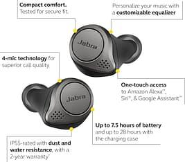 Jabra Elite 75t -Bluetooth-kuulokkeet, musta/titaani, kuva 4