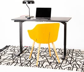 Elfen Ergodesk Pro -sähköpöytä, 120 x 75 cm, mattamusta, kuva 4