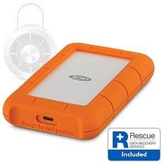 LaCie Rugged Secure USB-C 2 Tt -ulkoinen kovalevy, kuva 3