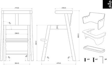 Sulo-tuoli, valkoinen/koivu, kuva 17