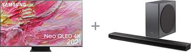 """Samsung QE65QN95A 65"""" 4K Ultra HD LED-televisio  + HW-Q800A  Dolby Atmos Soundbar -tuotepaketti"""