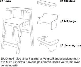 Sulo-tuoli, valkoinen/koivu, kuva 16