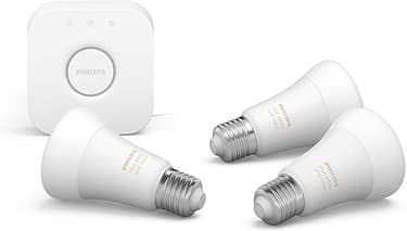 Philips Hue -tuotepaketti: White and color ambiance -starter kit E27: 3 lamppua ja silta sekä Motion sensor ja Hue Plug, kuva 3