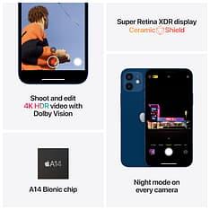 Apple iPhone 12 64 Gt -puhelin, sininen, MGJ83, kuva 6