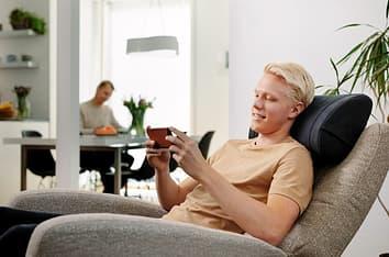 HUMU Augmented Audio Cushion -Bluetooth-äänituntumasoitin/tyyny, harmaa, kuva 2