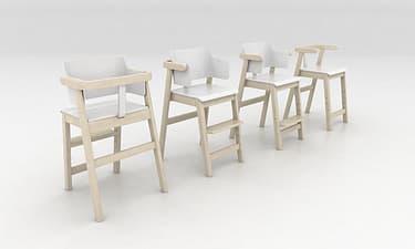 Sulo-tuoli, valkoinen/koivu, kuva 9