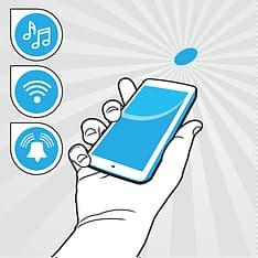 MyFoneKit NFC-tags tarrat 10 kpl, valkoinen