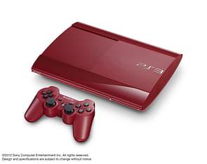 Sony PlayStation 3 500 GB -pelikonsoli, Garnet Red (punainen) + lisäohjain