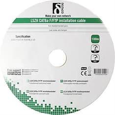 DELTACO Cat6a F/FTP -asennuskaapelirulla LSZH, 100 m, valkoinen, kuva 2