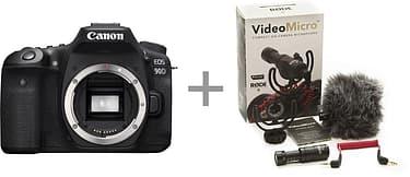 Canon EOS 90D -järjestelmäkamera + Rode VideoMicro, kuva 2