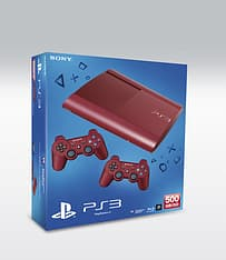 Sony PlayStation 3 500 GB -pelikonsoli, Garnet Red (punainen) + lisäohjain, kuva 2