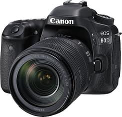 Canon EOS 80D -järjestelmäkamera + 18-135 IS USM -objektiivi