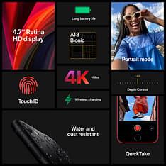 Apple iPhone SE 64 Gt -puhelin, musta, kuva 7