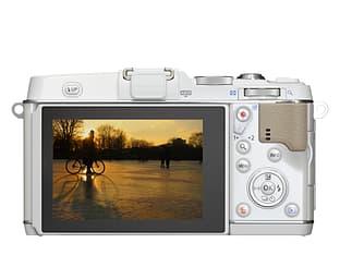 Olympus PEN E-P5 valkoinen, runko, kuva 2