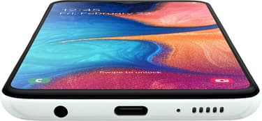 Samsung Galaxy A20e -Android-puhelin, Dual-SIM, 32 Gt, valkoinen, kuva 8