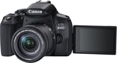 Canon EOS 850D -järjestelmäkamera, musta + 18-55 IS STM, kuva 2