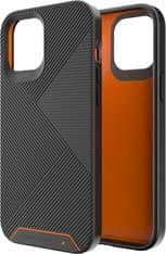 Gear4 D3O Battersea -suojakuori, Apple iPhone 12 Pro Max, musta/oranssi