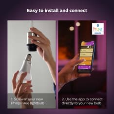 Philips Hue -tuotepaketti: White and color ambiance -starter kit E27: 3 lamppua ja silta sekä Motion sensor ja Hue Plug, kuva 17
